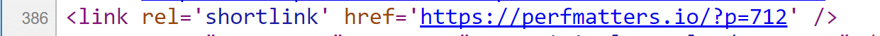 wordpress shortlink header