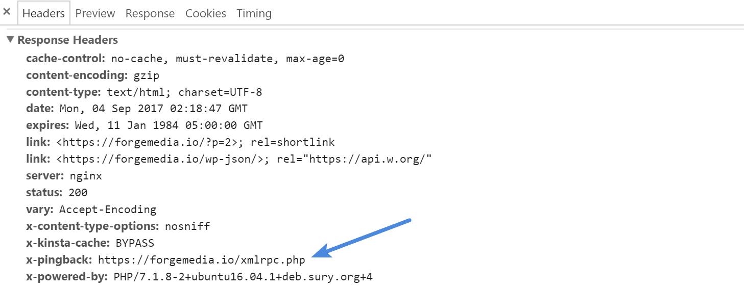 XML-RPC HTTP response header