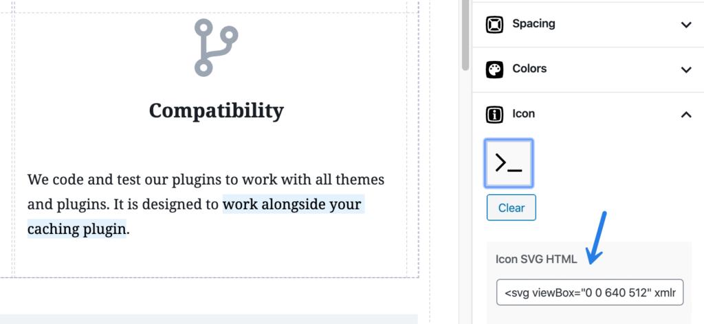 SVG font icons