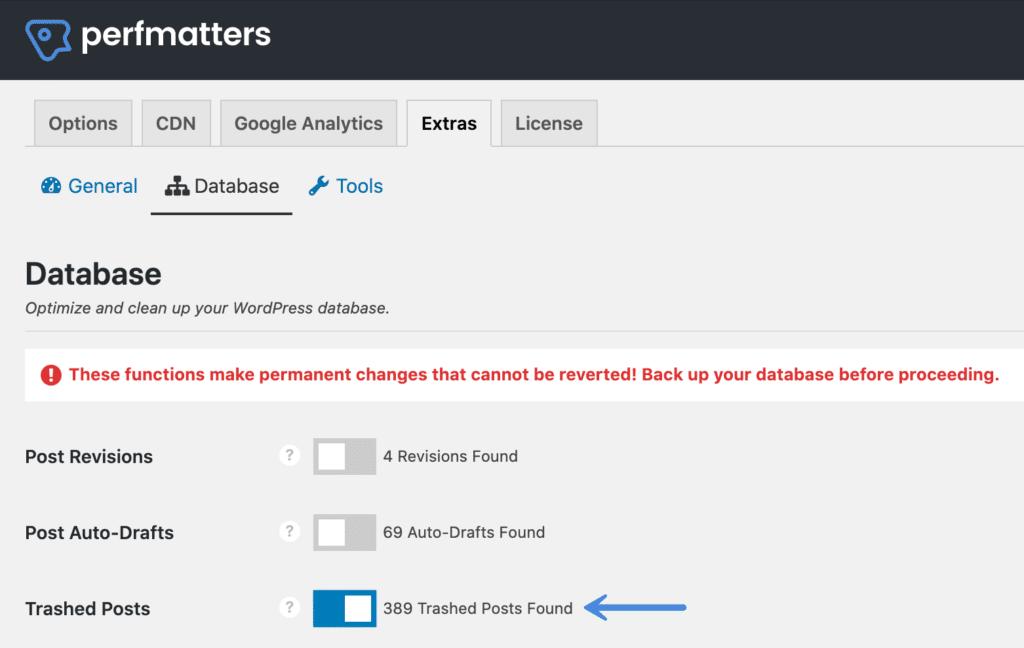 WordPress Trashed Posts