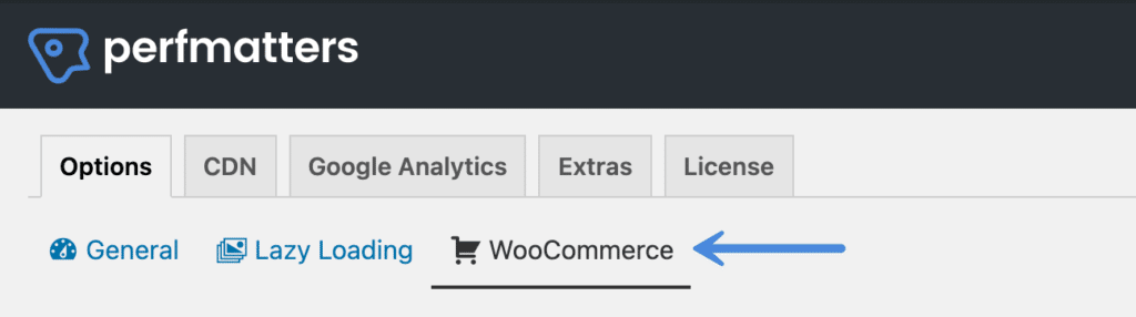 Perfmatters WooCommerce options
