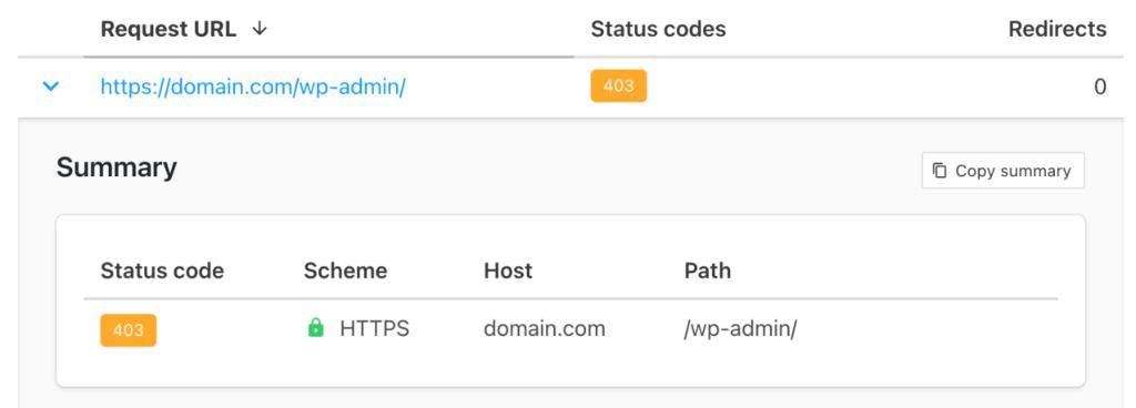 403 HTTP status code