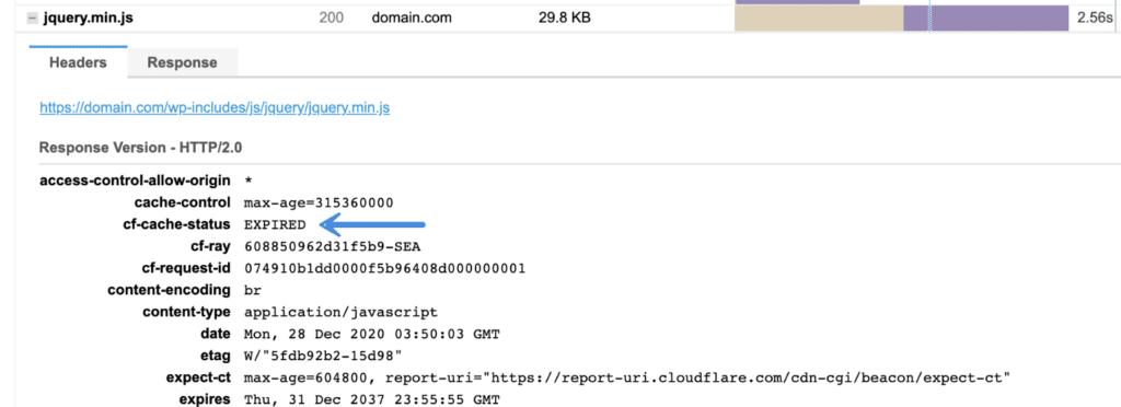 Verify header cache