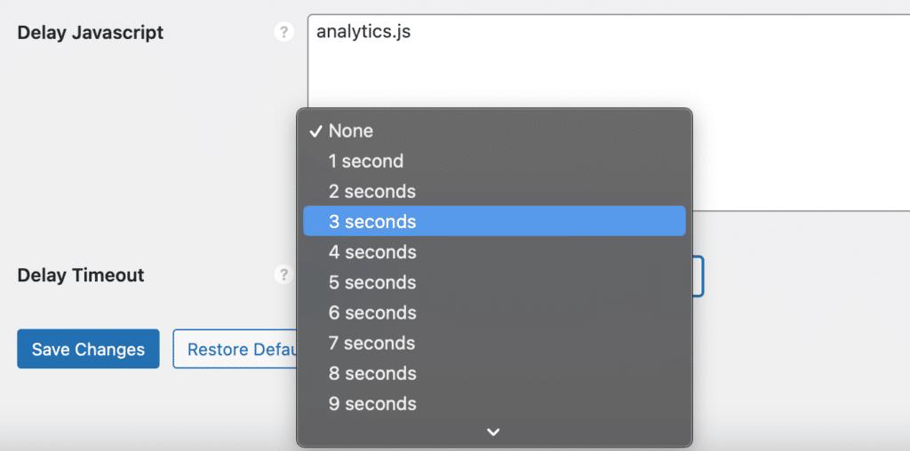 JavaScript delay timeout