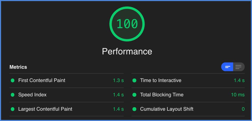 Perfmatters Google Core Web Vitals