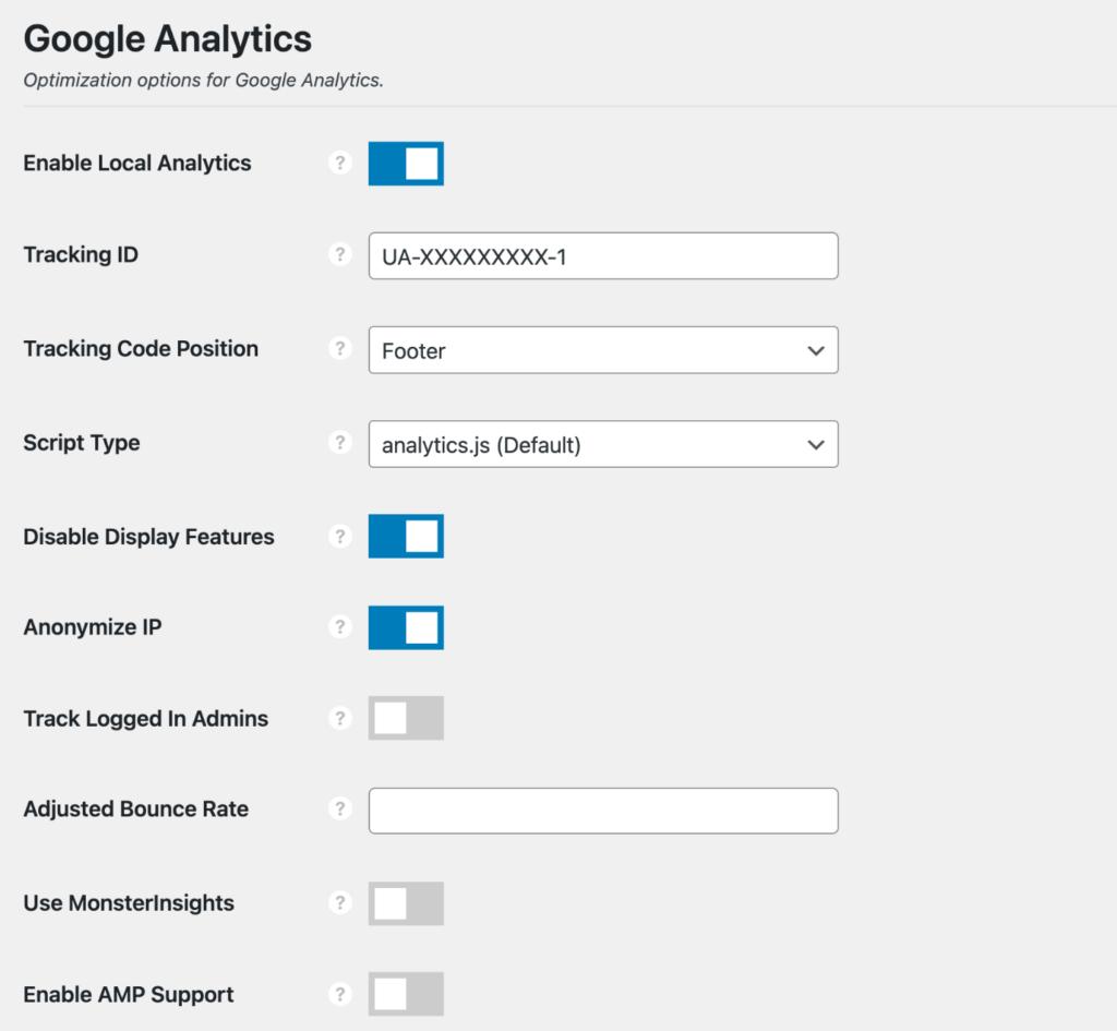 Enable Google local analytics