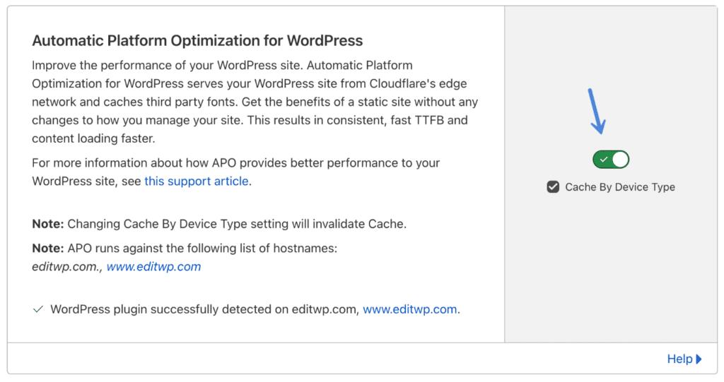 Cloudflare Automatic Platform Optimization for WordPress